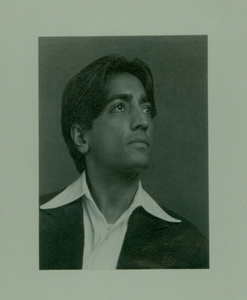 One of two photos of Krishnaji taken in 1934 that Mrs. Mathias had and which Mary had never seen.