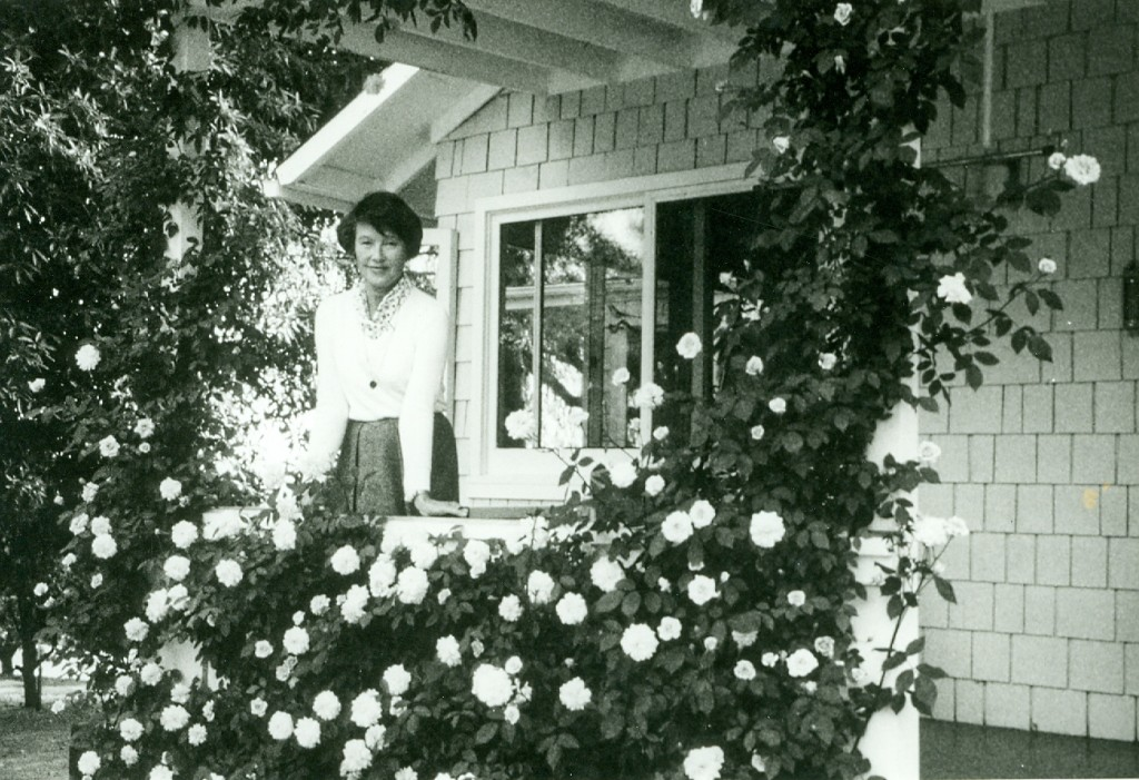 A photo of Mary at Pine Cottage (Ojai, CA) taken by Krishnaji.