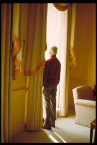 Looking out of the West Wing drawing room. Copyright Mary Zimablist.