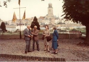 The only two photos of Krishnaji and Mary with Joe and Mary Links taken by Scott after lunch in Deventer. Copyright Mary Zimbalist.